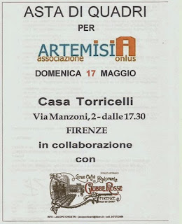 art auction raise money against domestic violence Florence, Italy