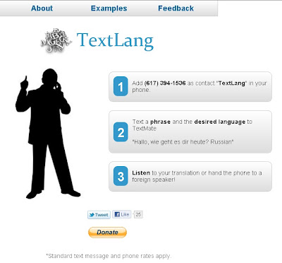 Textlang.com – Translate language with Text Message