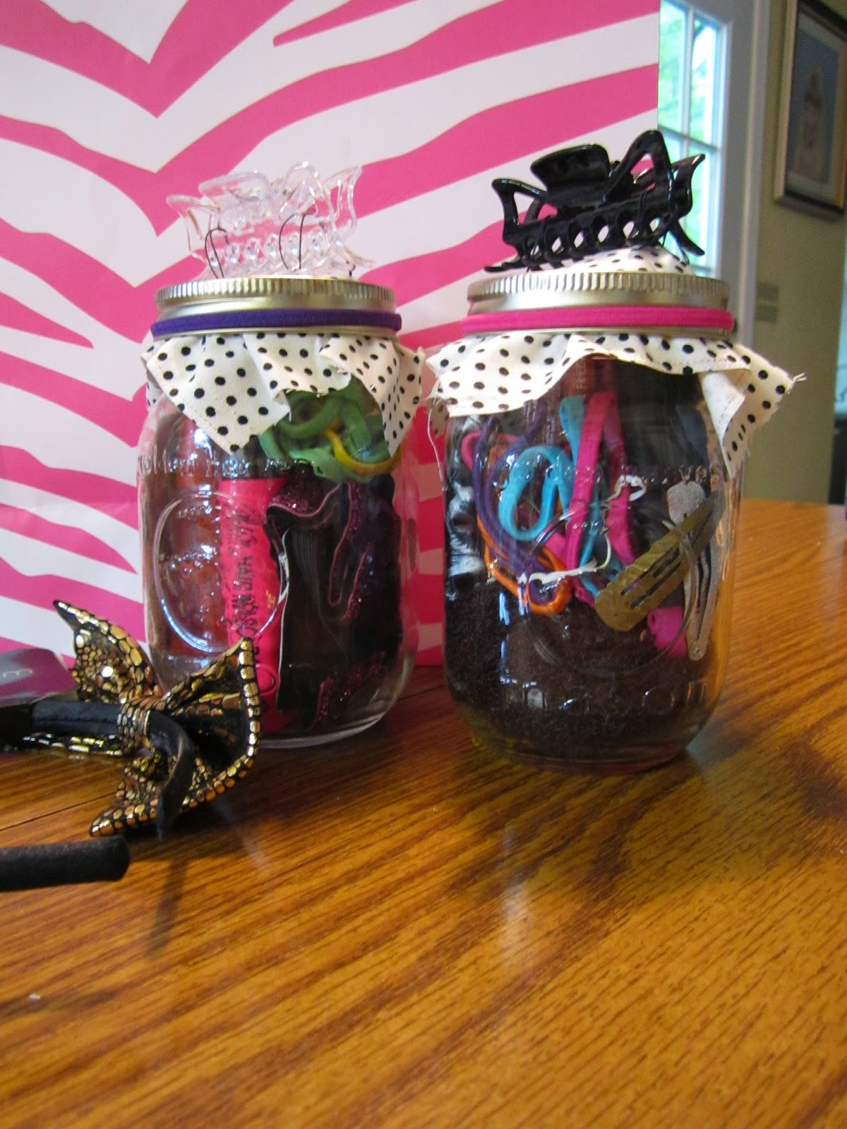 On My Vanity So I Retired Mason Jars And Decided They Would Be The Perfect Way To Package Up Her Gift Turned Out Super Cute Dont You Think