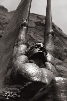 Hoover Dam statues, Winged Figures of the Republic, infrared, New Braunfels photography