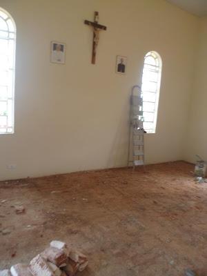 Capela de Santo Antônio em Rafael Godeiro inicia reforma do presbitério