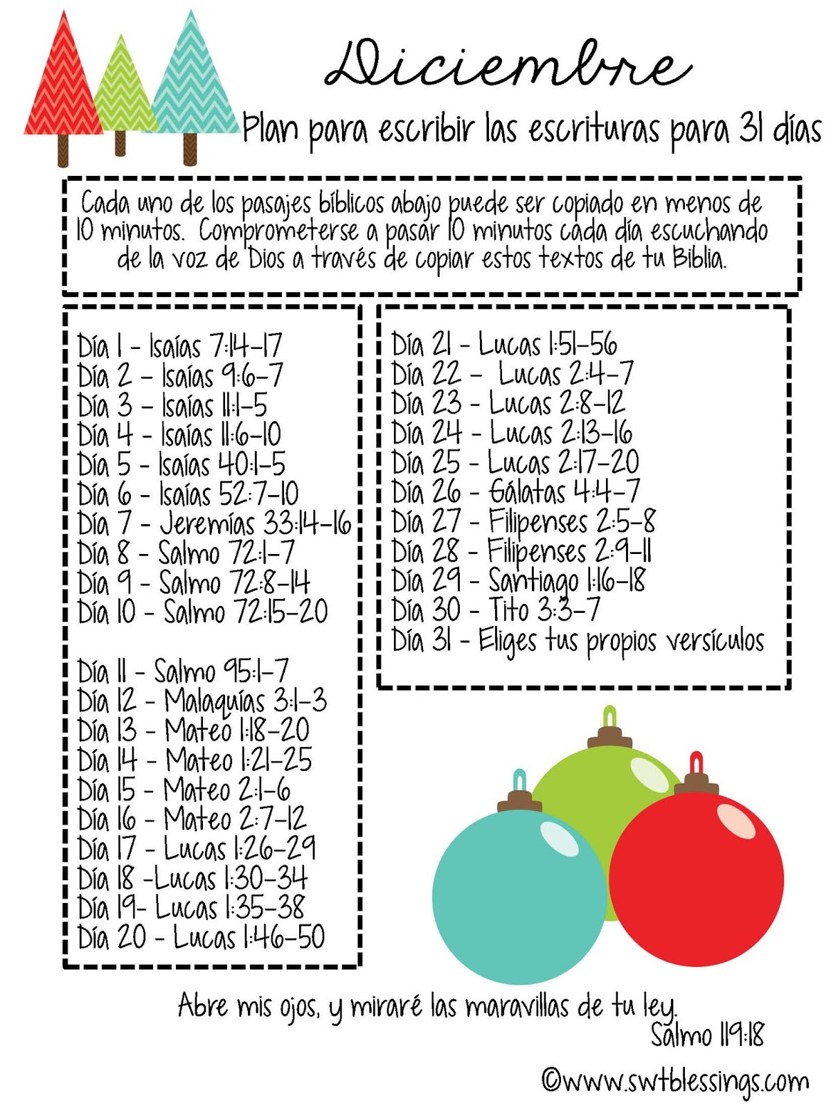 Sweet Blessings: December Scripture Writing Plan