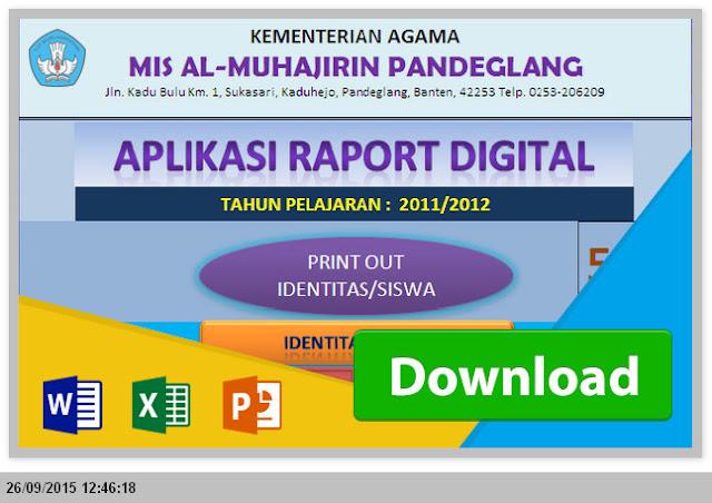 Aplikasi Raport MTs KTSP dengan Excel Gratis Paling Baru 2015