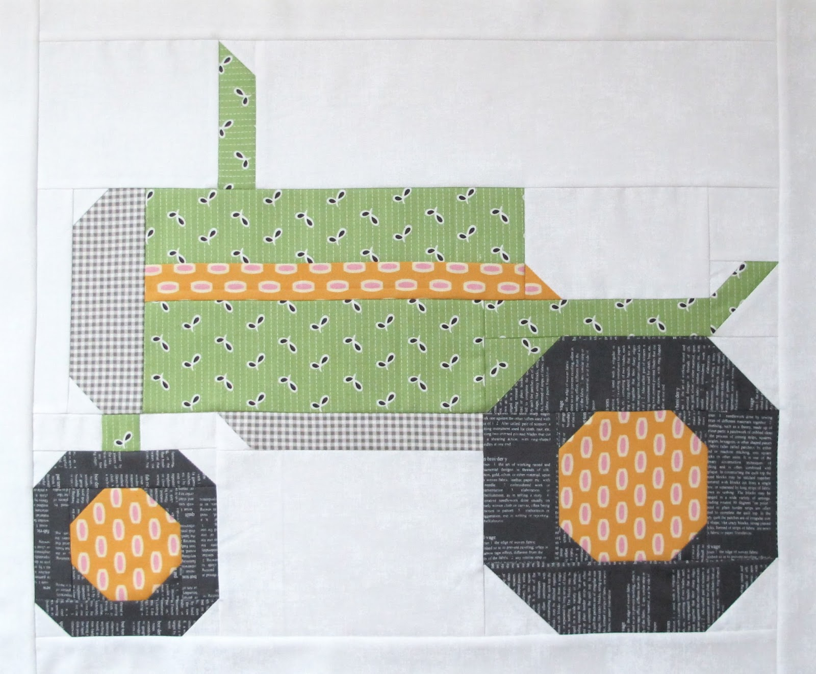 Tractor Sewing Pattern : Bee in my bonnet the quilty barn along vintagey farm