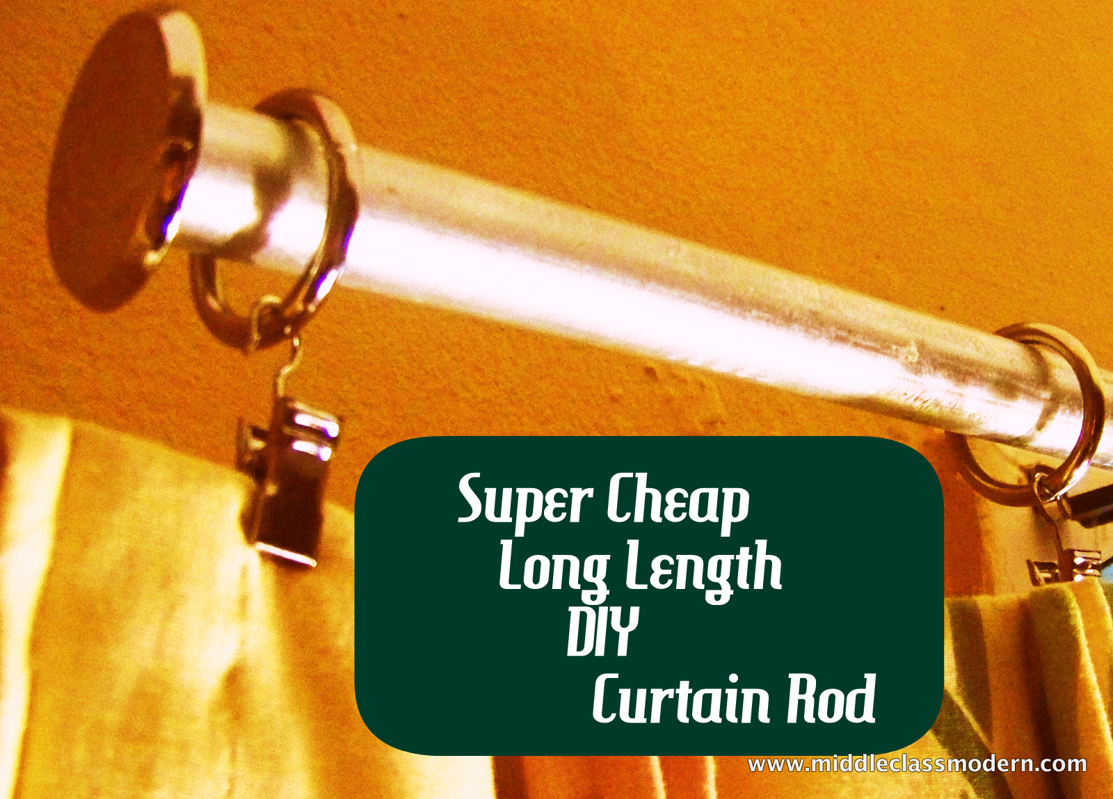 Diy curtain rods conduit - A Nice Strong Rod Diy Curtain Hanging