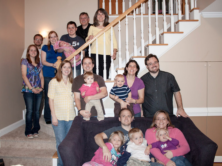 Our kids and grandkids, Thanksgiving 2012