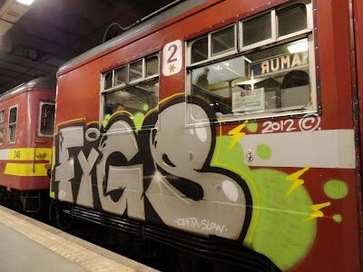 CESTA SLOW graffiti