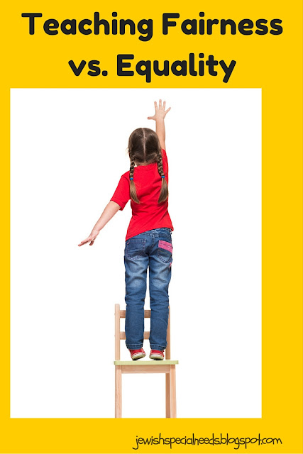 Teaching fairness vs. equality; Removing the Stumbling Block