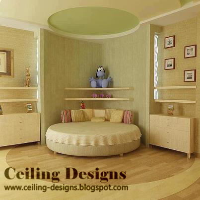 Circular Cool False Ceiling Designs For Bedrooms With Circular Bed Part 75