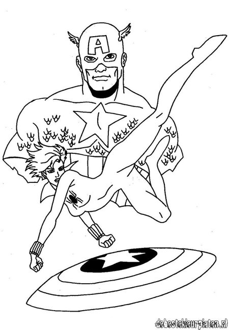avengers coloring pages captain america - photo#15