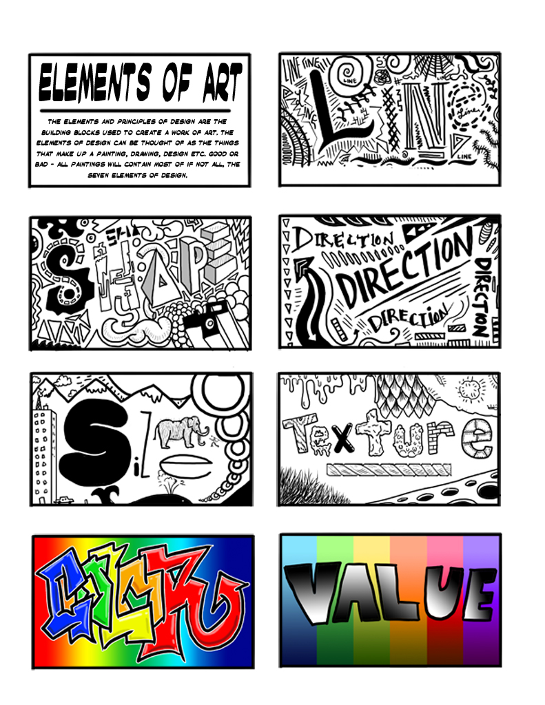 6 Elements Of Art : Nchs art elmore elements and principles of design