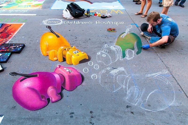 El Festival de Arte con Tiza de Denver