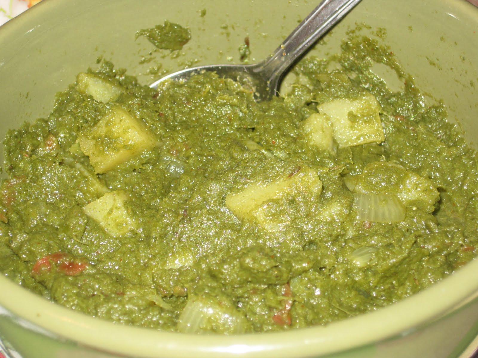 Ruchimayam: Turnip Greens Masala