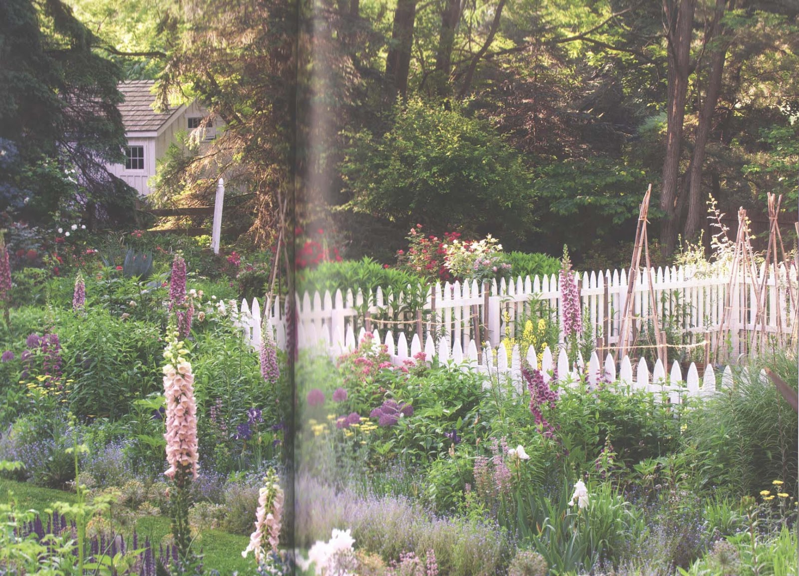 Now This Is What A Garden Should Be! (It Even Has A White Picket Fence     My Favorite.)
