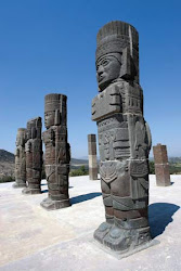 Stone Columns Carved by the Toltec