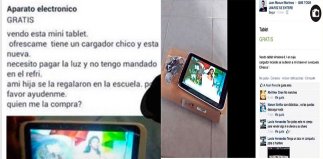 Padres veden tabletas otorgadas de manera gratuita a estudiantes