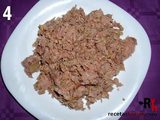 Rollitos de jamón con atún - Paso 4