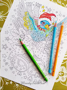 Hey Lovelies...Don't miss out on my free and fun colouring page fun in 2018...