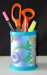 Hologravure pencil pot