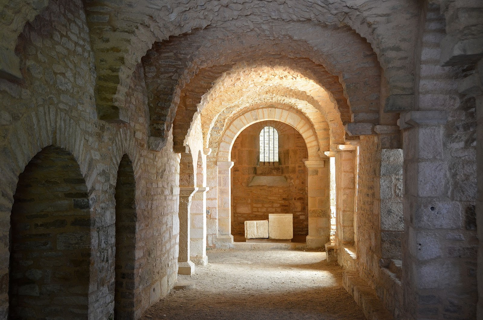 Carolingian Crypts at the Saint-Pierre Abbey. Photo: Patrick.