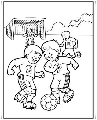 Ausmalbilder Fußball Kostenlos