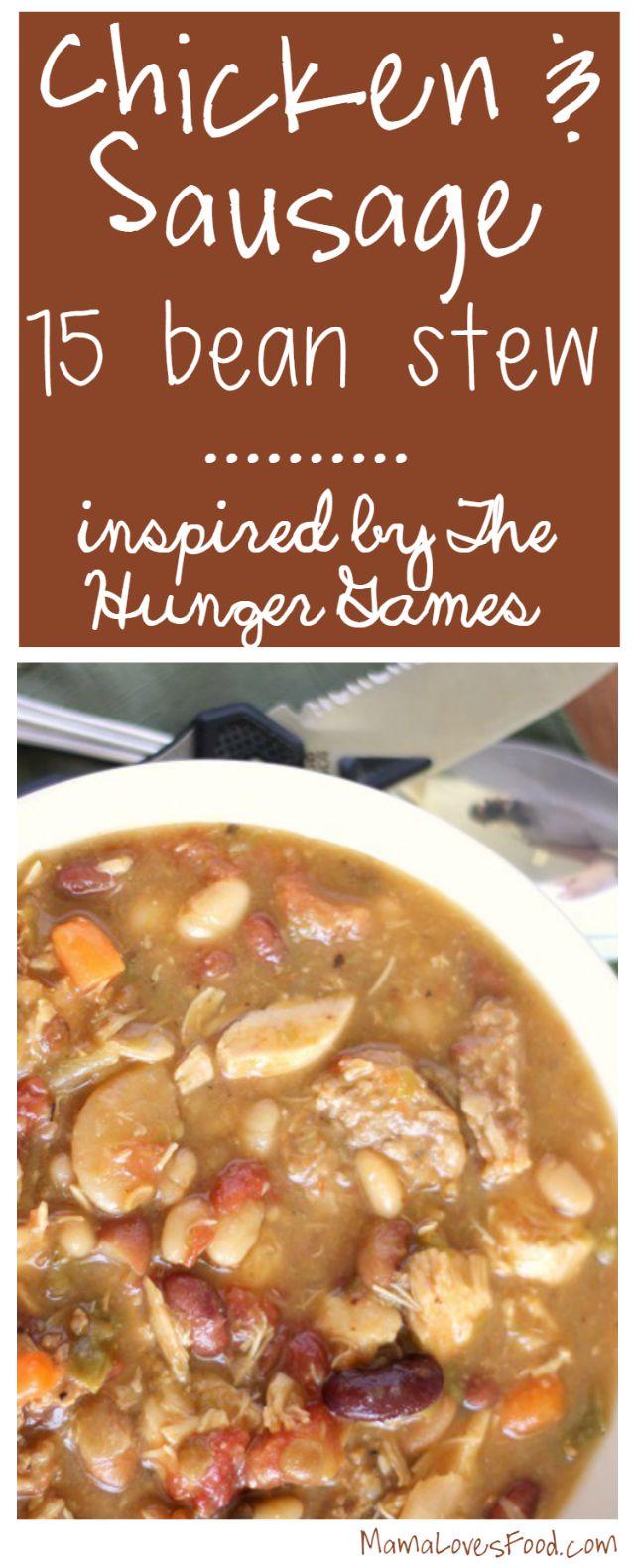 Hunger Games Hob Stew.  {Chicken & Sausage Stew}