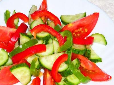 Салат овощной летний
