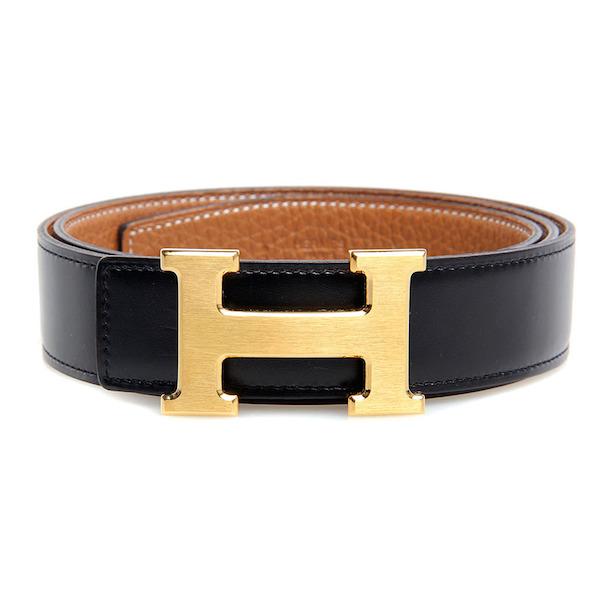 Hermes Black H Logo Belt | Southern Arrondissement