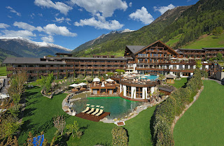 Hotel Andreus bei Tag im Passeiertal Südtirol