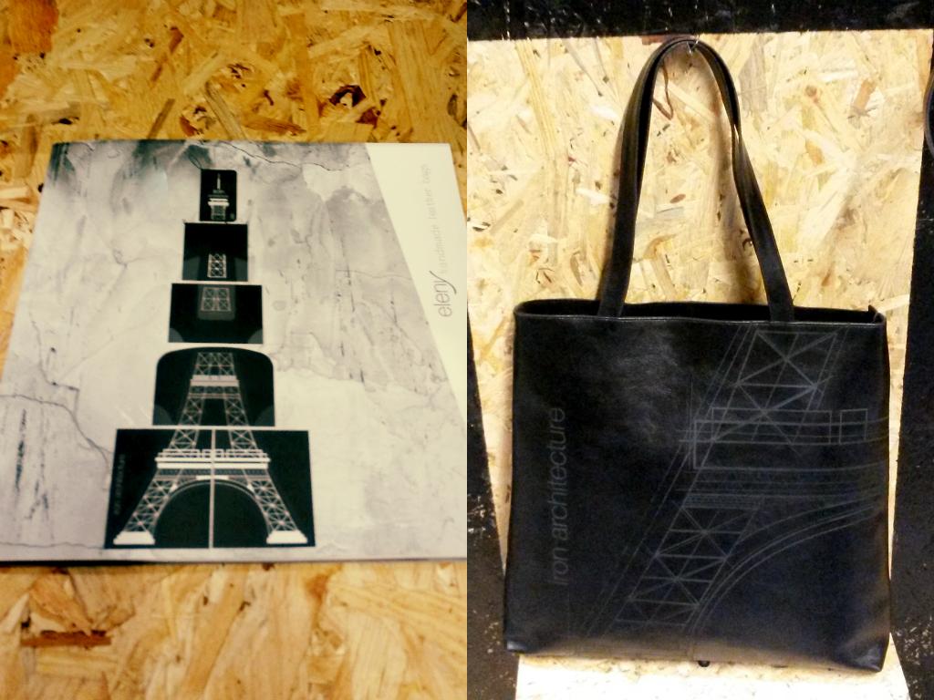 Borse pelle con Tour Eiffel