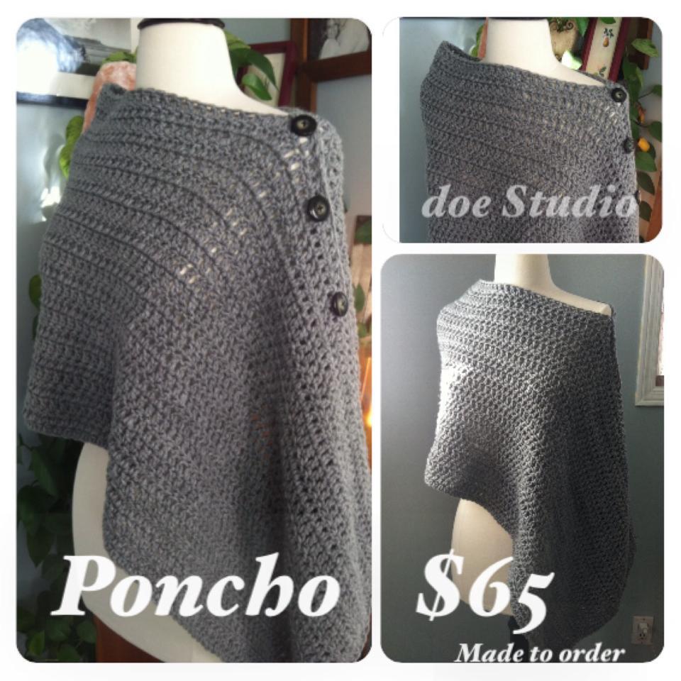Handmade Poncho ~ $65