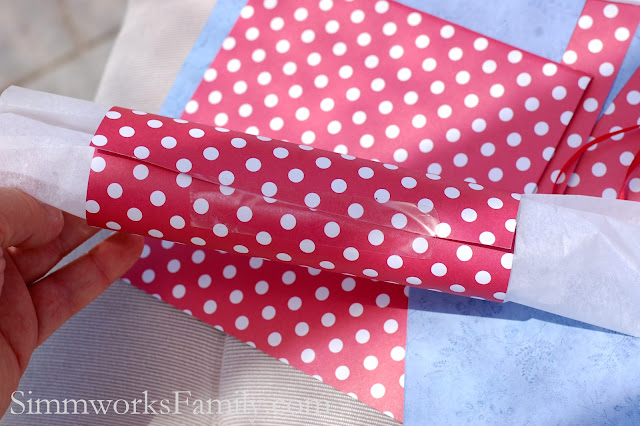 Tissue & Scrapbook Paper for 4th of July Craft