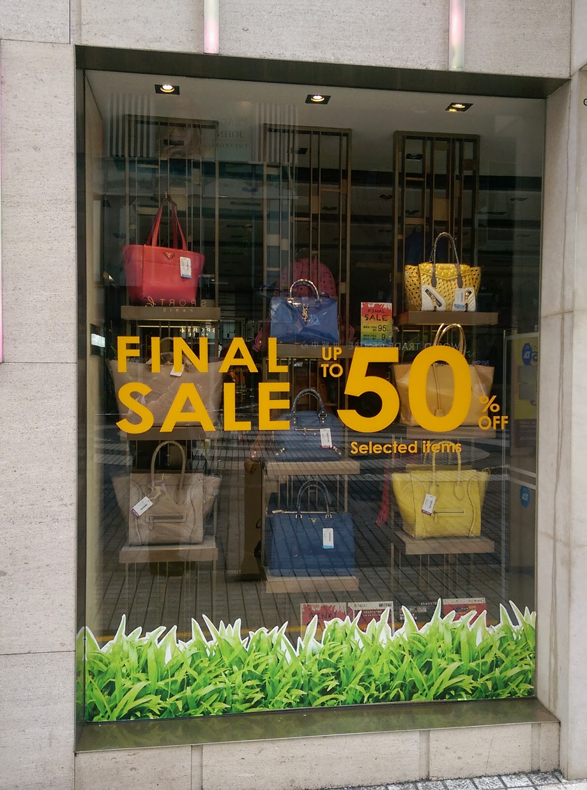 50% Off Brand Name Handbags Hannah Causeway Bay Hong Kong | GlobalGoodFood