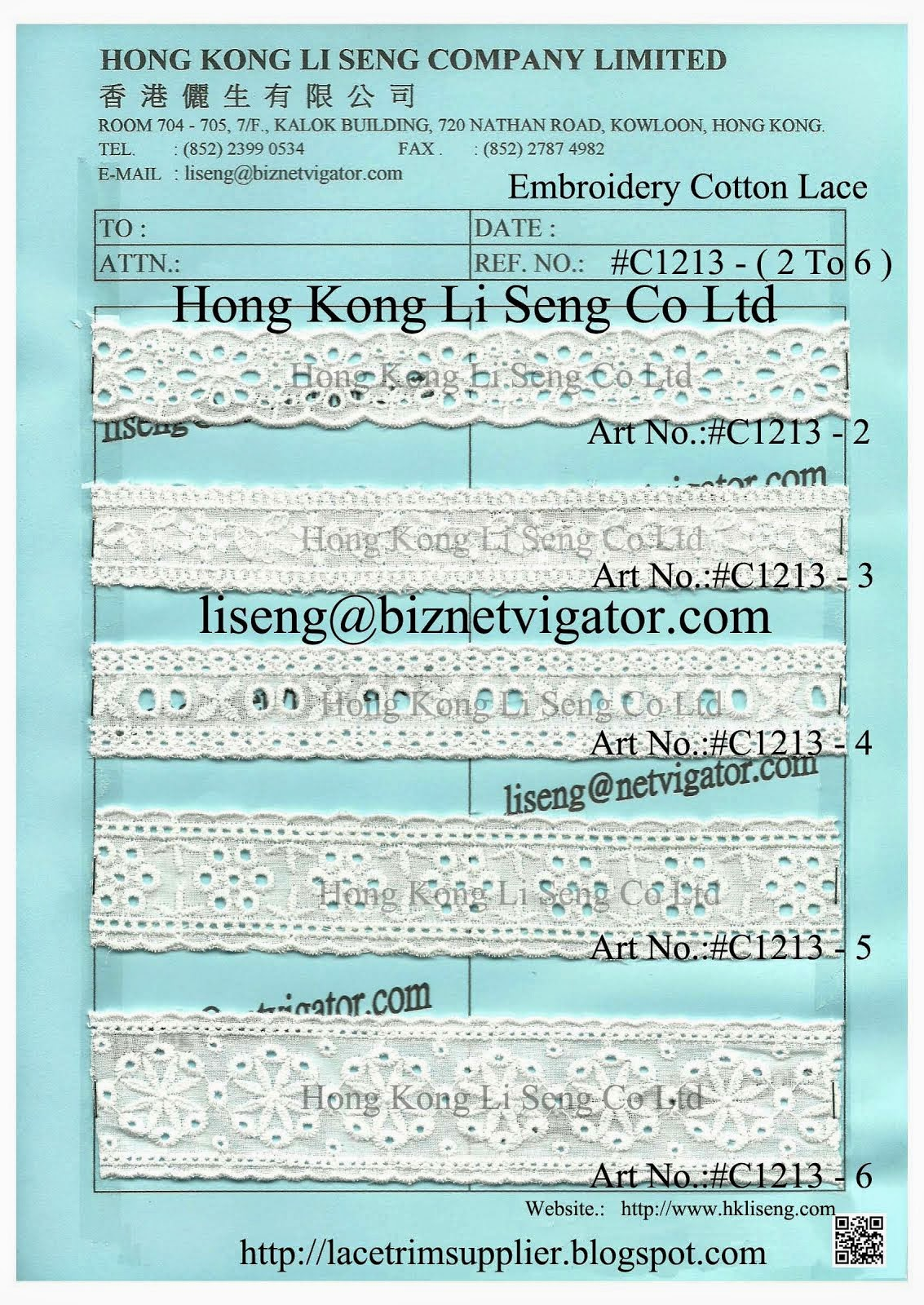Apparel Trims Supplier and Manufacturer - Hong Kong Li Seng Co Ltd
