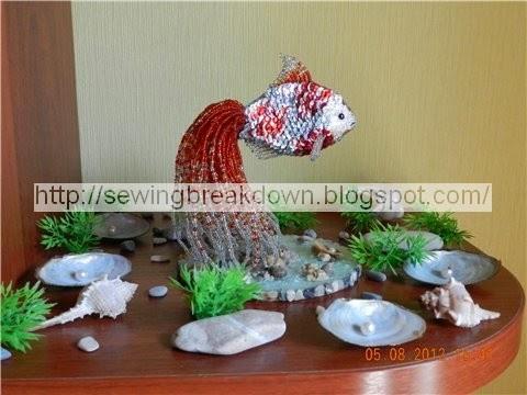 طريقة صنع سمكة زينة بالخرز