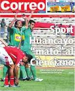 Sport Huancayo mato al Cienciano