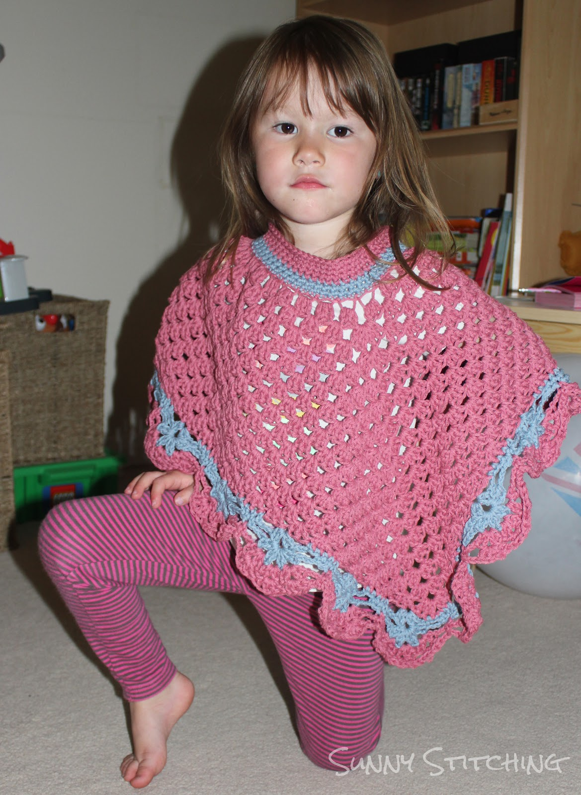 Free Crochet Poncho Pattern For Little Girl : Sunny Stitching: Coming Home Poncho