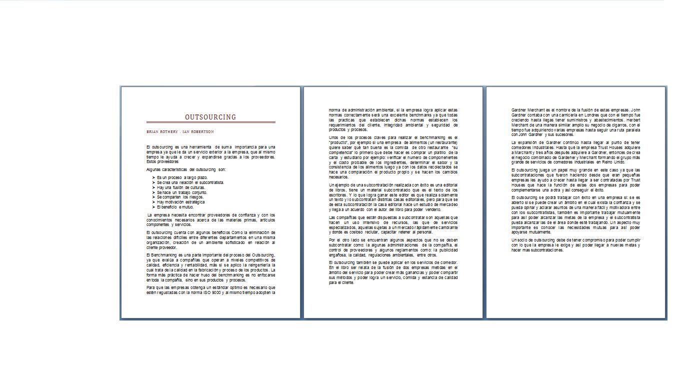ADMINISTRACIÓN : Resumen Libro Outsourcing (Brian Rothery - Ian ...