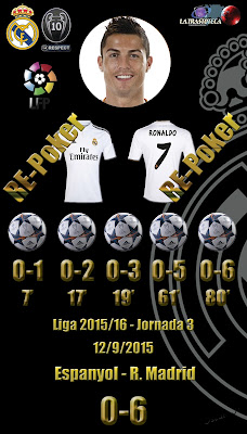 Espanyol 0 - 6 Real Madrid - Liga 2015/16 - Jornada 3 - (12/9/2015)