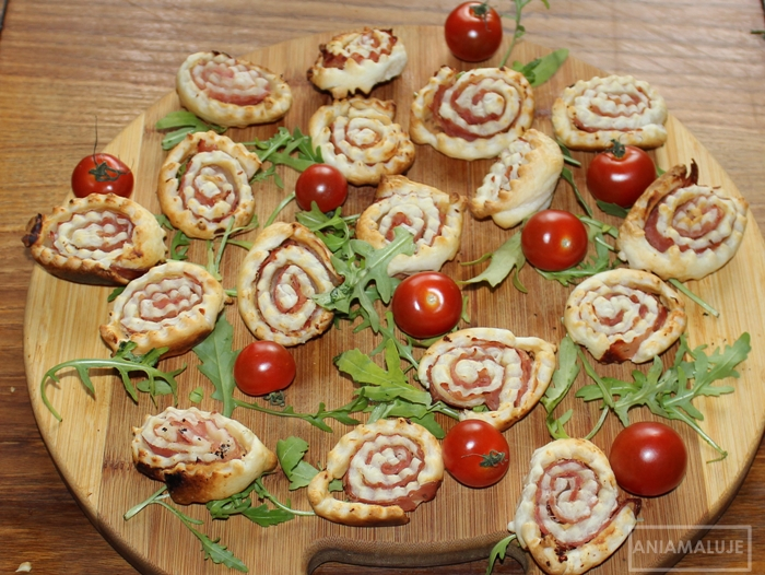 puff pastry rolls with ham and mustard recipe