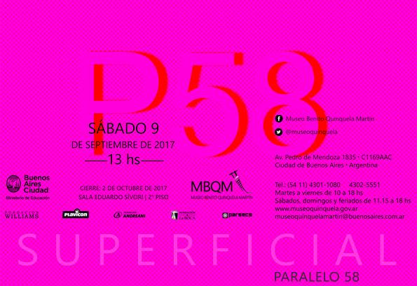 """Sep 2017 - P58 en el Museo Quinquela con """"SUPERFICIAL"""