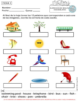 Pretty Ejercicios Ingles Cuarto Primaria Photos >> Fichas De Ingles ...