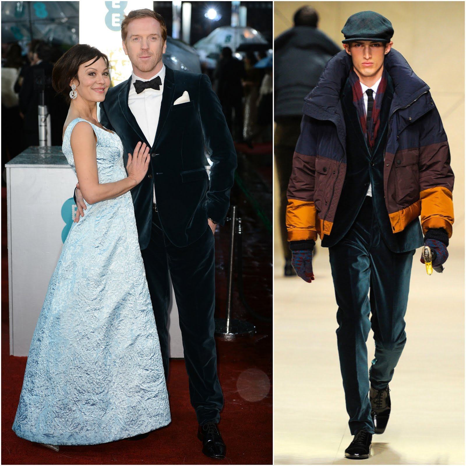 00O00 Menswear Blog Damian Lewis in Burberry - 66th BAFTA Awards, EE British Academy Film Awards at The Royal Opera House