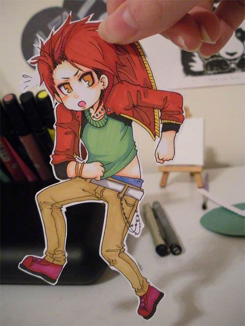 Figuras Anime en papel. 253240_10150262339734819_213182229818_7273977_318256_n