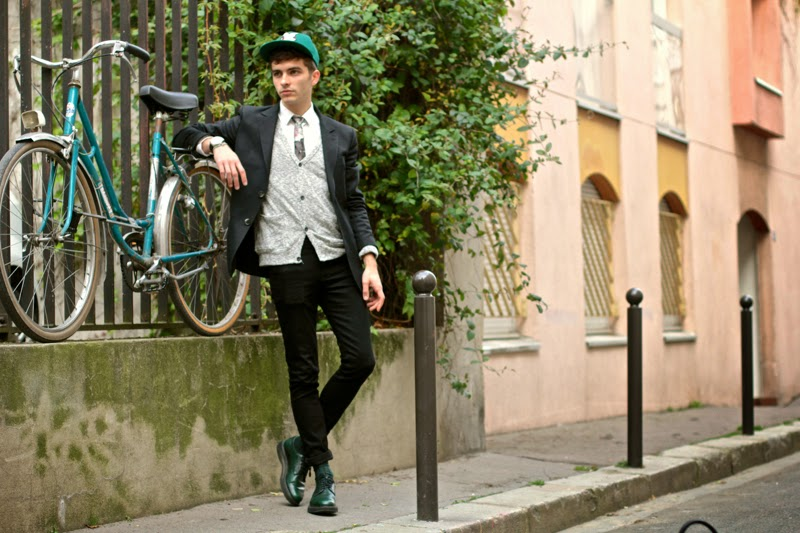APC blazer - craft&commerce cardigan - skinny jeans - royalties chaussettes socks - chevignon casquette cap - BLOG MODE HOMME MENSFASHION