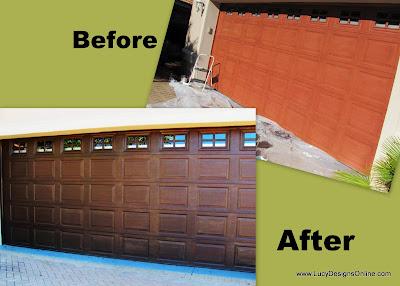 garage door before and after
