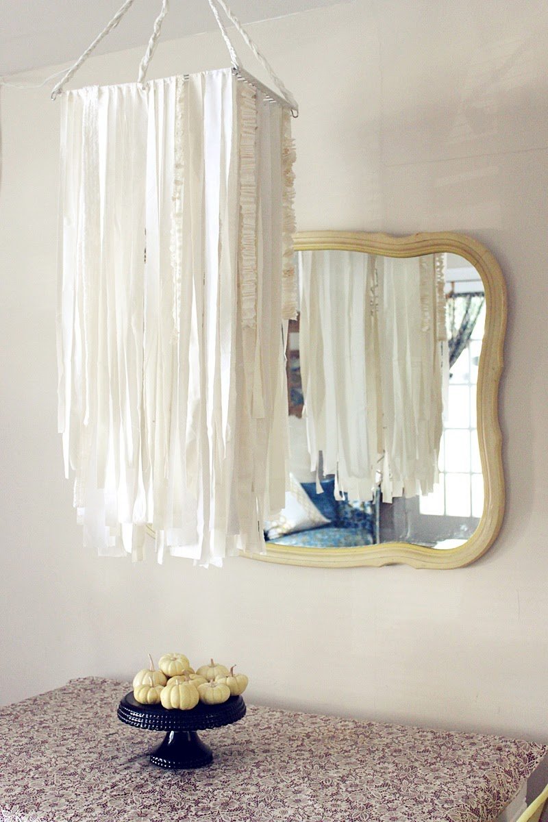 red letter days diy fabric garland chandelier
