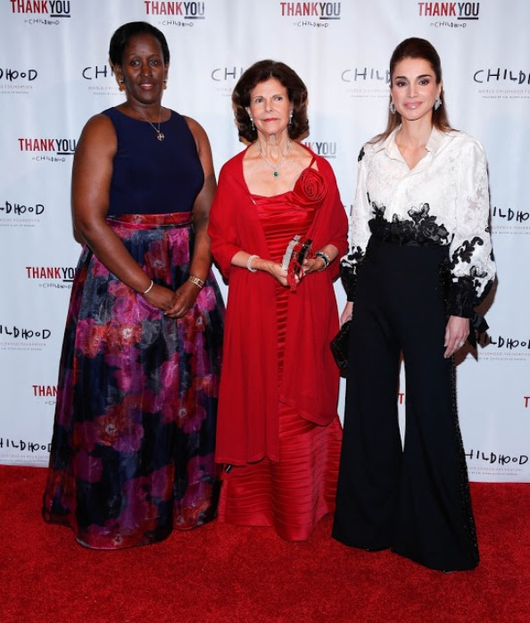 Queen Silvia And Queen Rania Attends WCF ThankYou Gala 2015