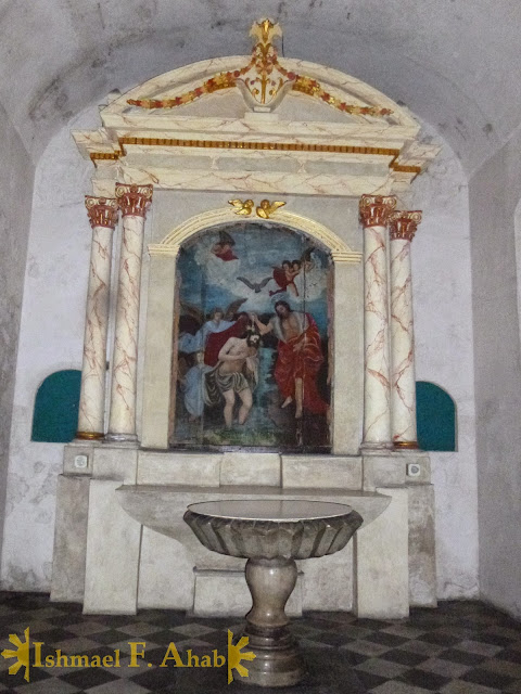 Baptismal font in Santa Ana Church, Manila