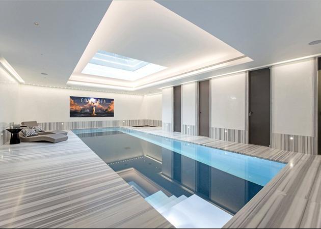 Decadent 54 million dollar 4 level residence in london for Pool design london